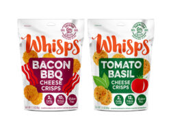 whisps pouch packaging design cheese crisps