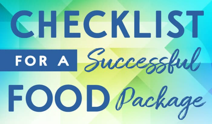 checklist for a successdul food