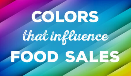 colors that influence food sales infographic