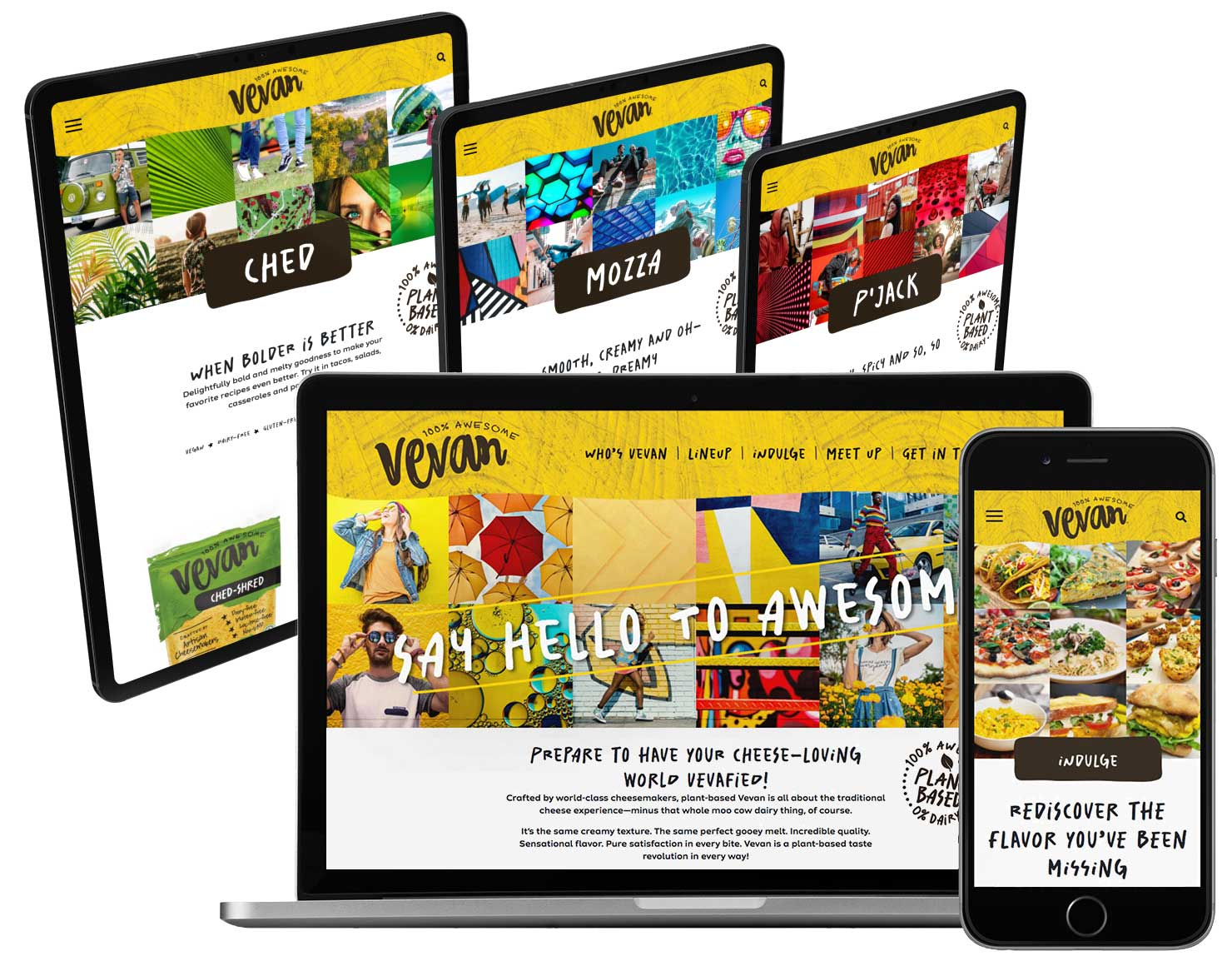 Vevan Foods Cheese Product Website Design