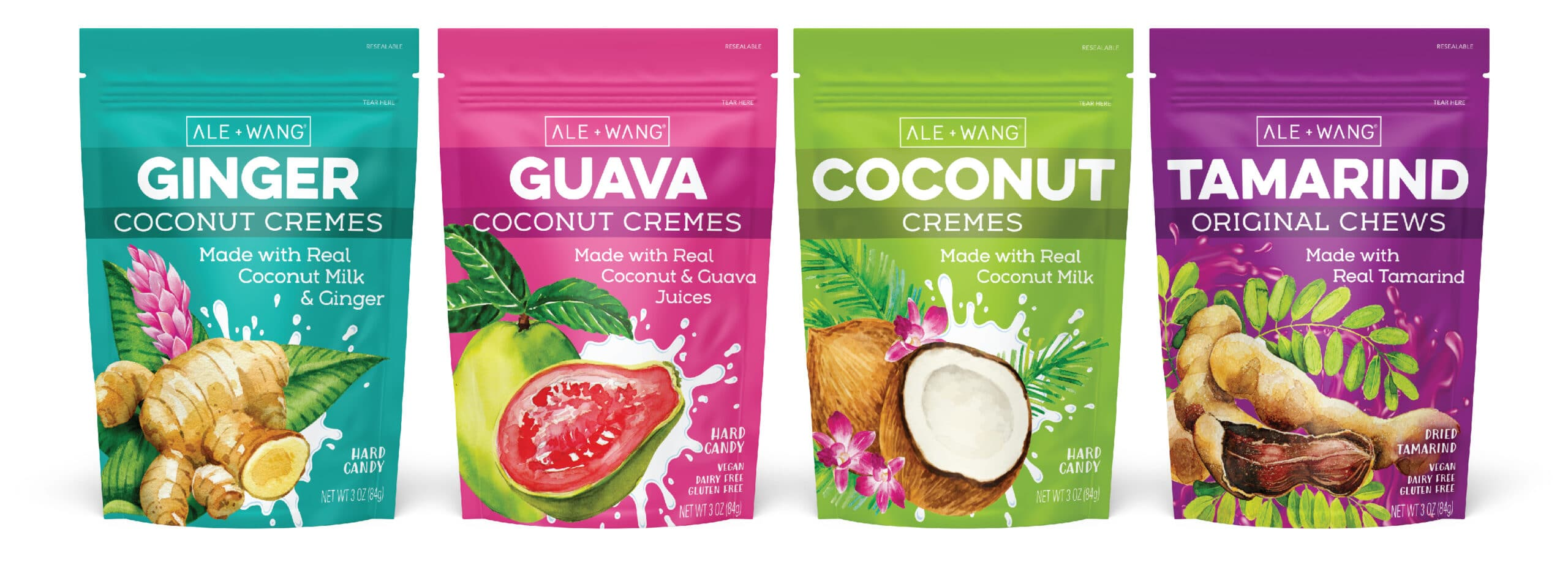 Coconut Creme Candy Pouch Packaging Design