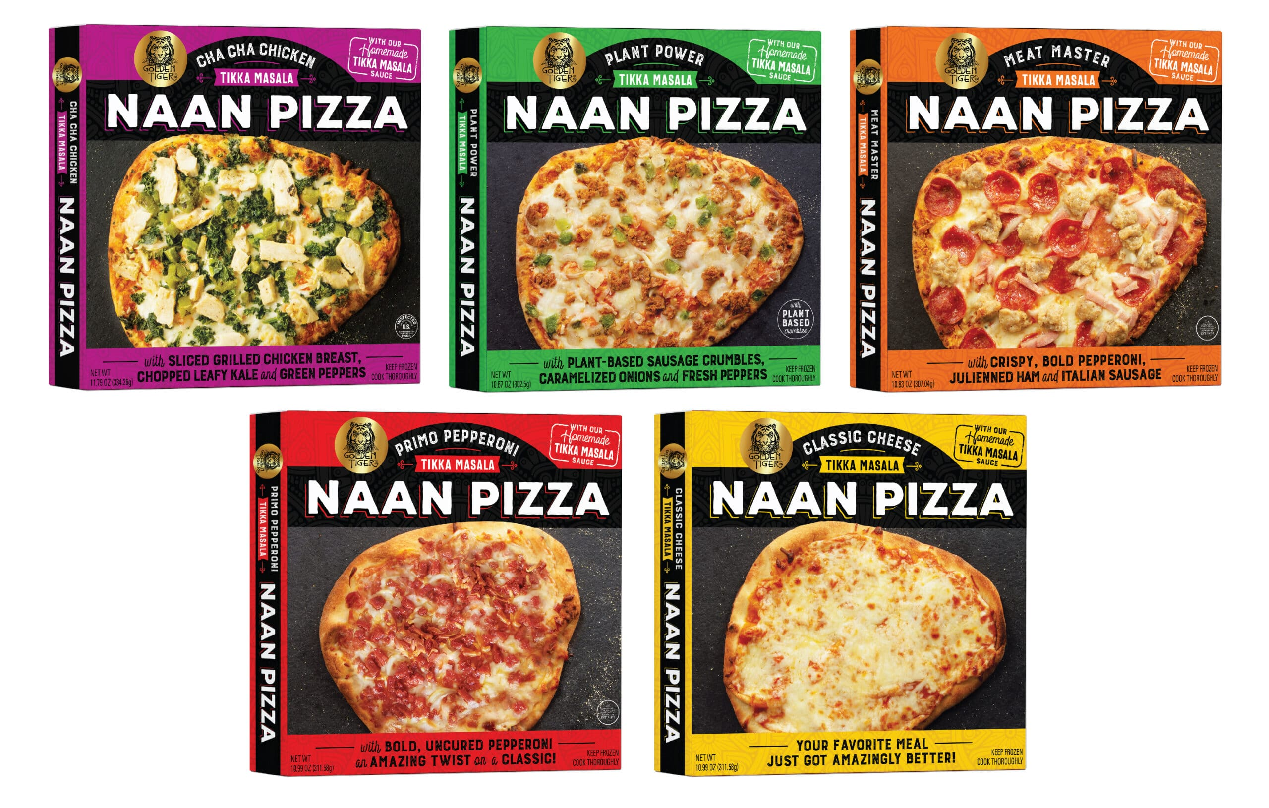 Naan Pizza Frozen Box Packaging Design
