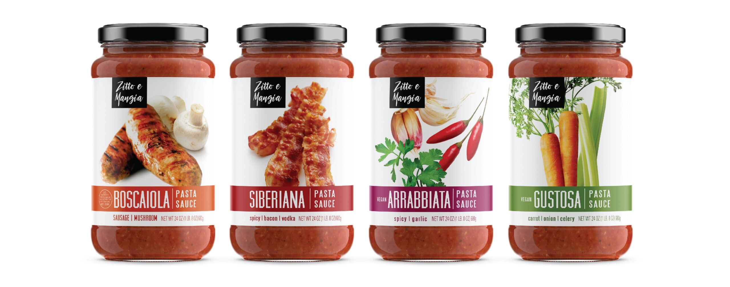 Pasta Sauce Jar Packaging Design