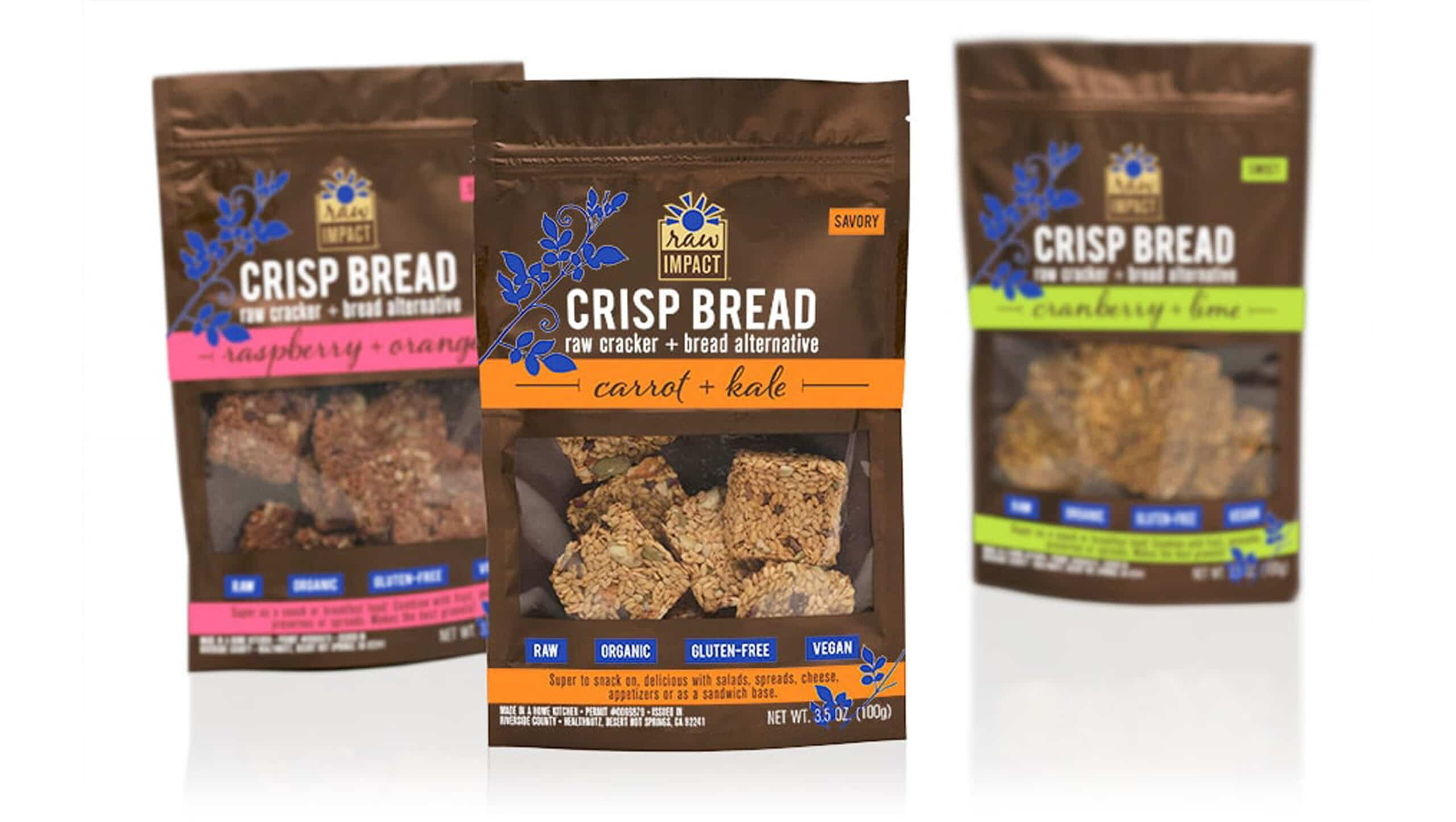 Raw Bread & Cracker Alternative Pouch Packaging Design