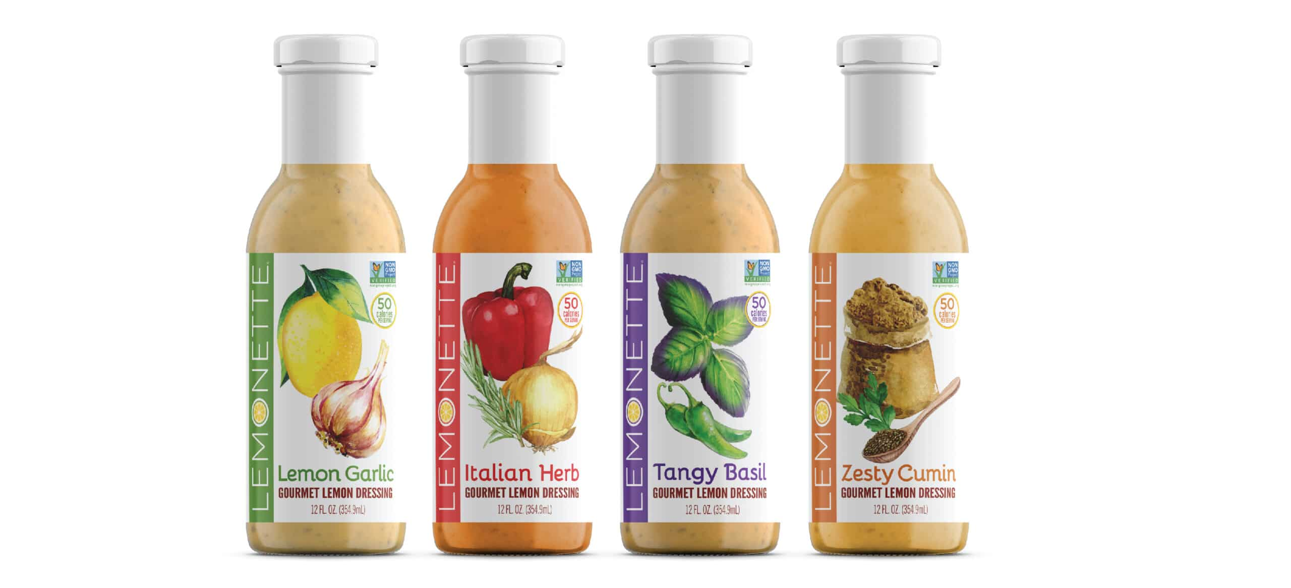 Salad Dressing Bottle Packaging Design