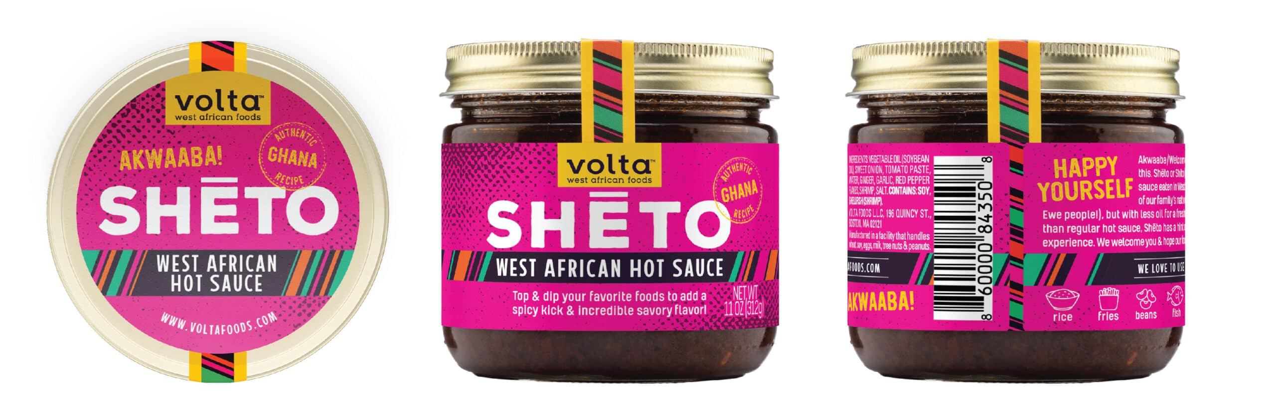 Shēto West African Hot Sauce Jar Condiment Packaging Design